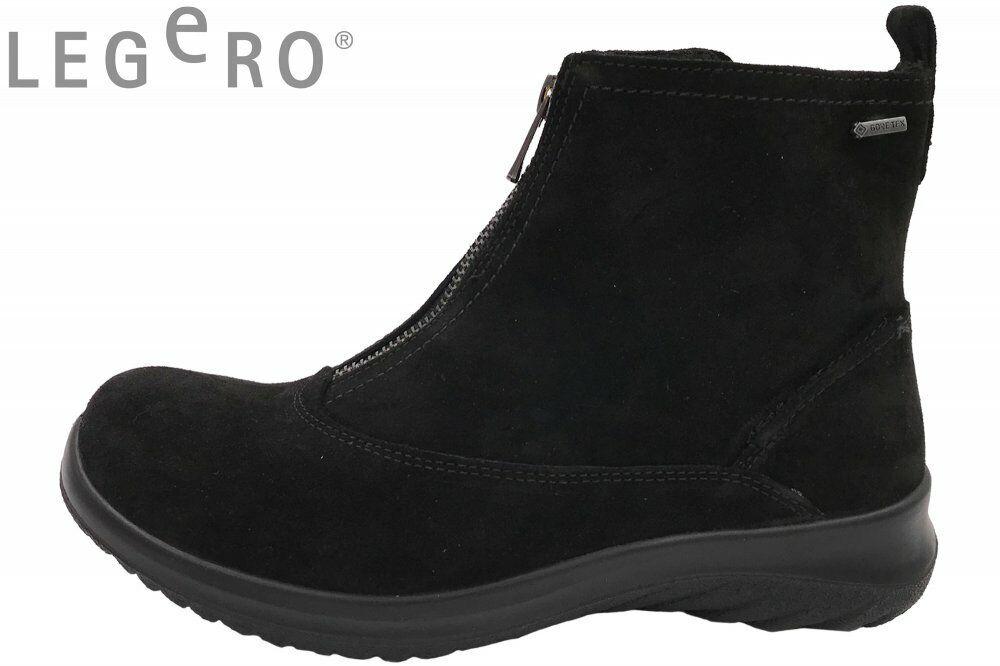Legero Damen Stiefel Schwarz Gore-Tex Stiefel Schuhe Leder 09572-00