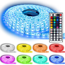 5m RGB LED Strip e Leiste Streifen SMD Band Lichter Licht Leuchte n Lichterkette