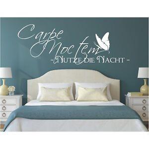 Wandtattoo-Spruch-Carpe-Noctem-Nutze-Nacht-Wandsticker-Wandaufkleber-Sticker-2