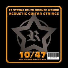 Rosetti 12 String Acoustic Guitar Bronze Wound Strings 10 - 47 Gauge (Twelve)