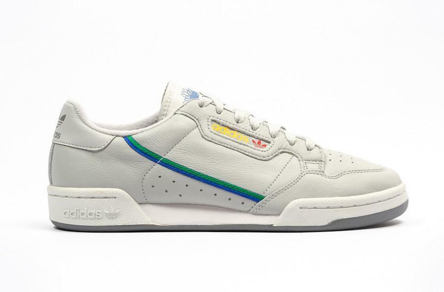 Herren Adidas Continental 80 Grau Zwei One Scharlachrot CG7128