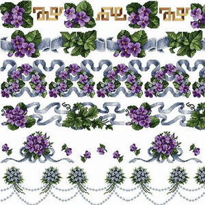 Abc Violets Borders Machine Embroidery Designs Set In Cross Stitch 5