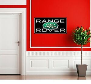 Landrover range rover logo garage sign custom wall sticker for Land rover tarbes garage moderne
