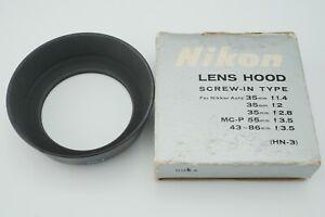 N-MINT-genuine-Nikon-HN-3-Metal-Lens-Hood-for-35mm-f-1-4-f-2-from-Japan-N11