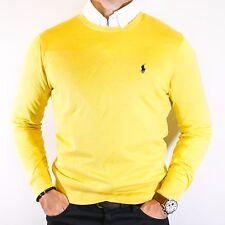 NWT Polo Ralph Lauren Yellow Cashmere & Cotton Sweater Elegant Size M Pony Logo