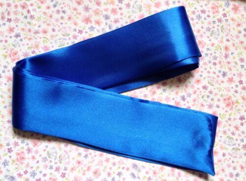 """Plain 2.5/"""" Large Foncé Satin Écharpe Tissu Wrap Ceinture Self Tie Bow Soirée Mariage Robe"""
