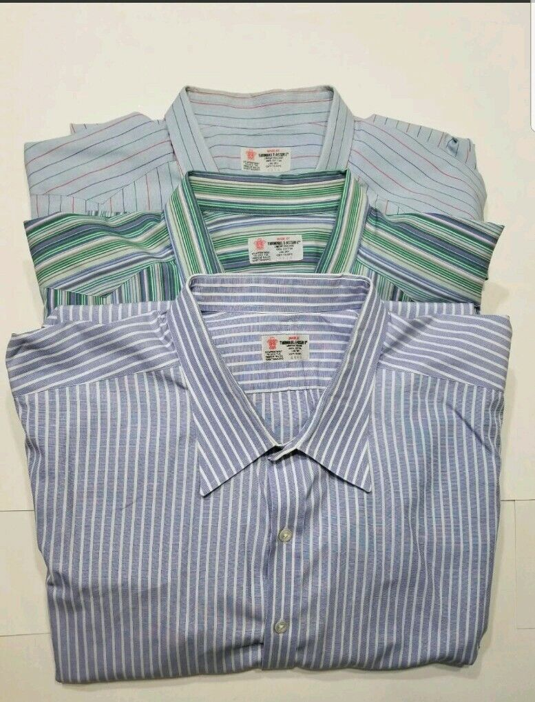 LOT OF 3 Turnbull Asser Multi color Front Button Shirts French Cuff