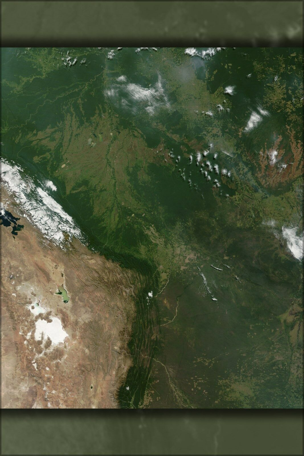 Poster, Molte Misure; Satellitare Immagine di Bolivia in Giugno Giugno Giugno 2002 8f9695
