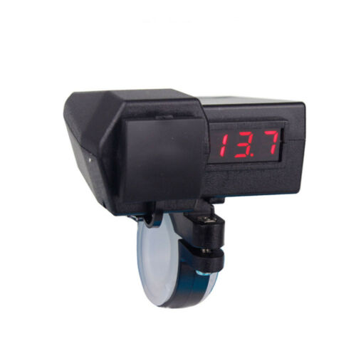 Phone GPS USB Charger Red Voltmeter For Yamaha VStar 1300 XVS1300 Tourer Deluxe