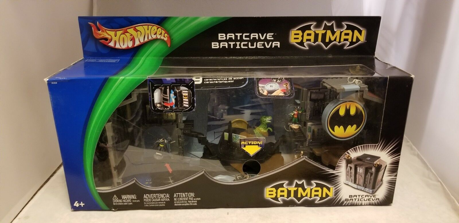 2003 HOT WHEELS BATMAN BATCAVE PLAYSET