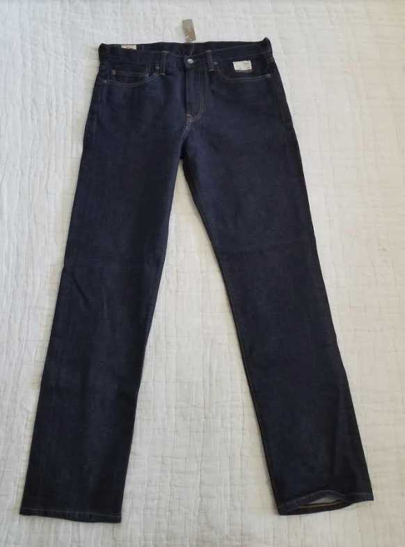NEW MEN'S J CREW 770 STRAIGHT FIT STRETCH JEANS IN INDIGO KURABO JAPANESE DENIM