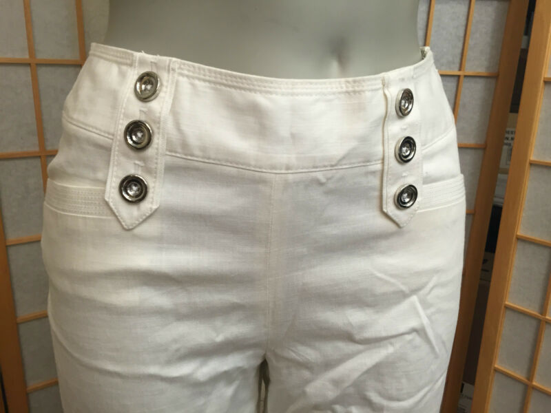 Aus Dem Ausland Importiert White House Black Market Leinen Mischung Hose Mit Weitem Bein Damen Größe 0