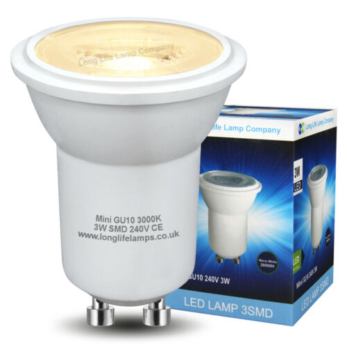 Mini GU10 LED 3W Replacement for Small Halogen GU10 35mm Warm or Cool White
