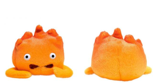 HOWL'S MOVING CASTLE Official Licensed CALCIFER Fire Demon PLUSH Studio Ghibli