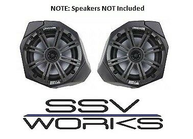 Unloaded Pair for 2017-2018 Can Am X3 SSV Works Front Kick Speaker Pods