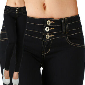 Sexy-Women-039-s-Stretchy-Low-Waist-Hipsters-Blue-Black-Trousers-Skinny-Slim-N-250