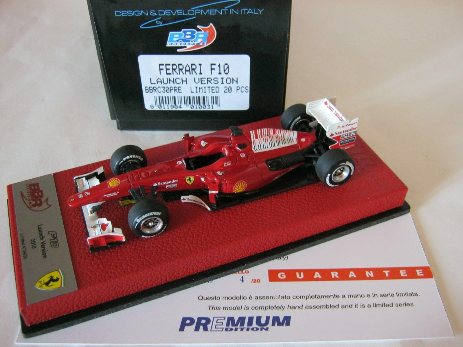 F1 BBR 1 43 FERRARI F10 LAUNCH VERSION 2010 BBR C30PRE