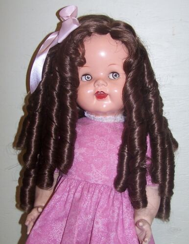 "22/"" Saucy Walker New Long Wig with Ringlets in Light Brown #4"