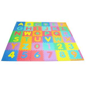 Baby Foam Floor Play Mat Puzzle 36 Tiles 12 X12 Activity Gym