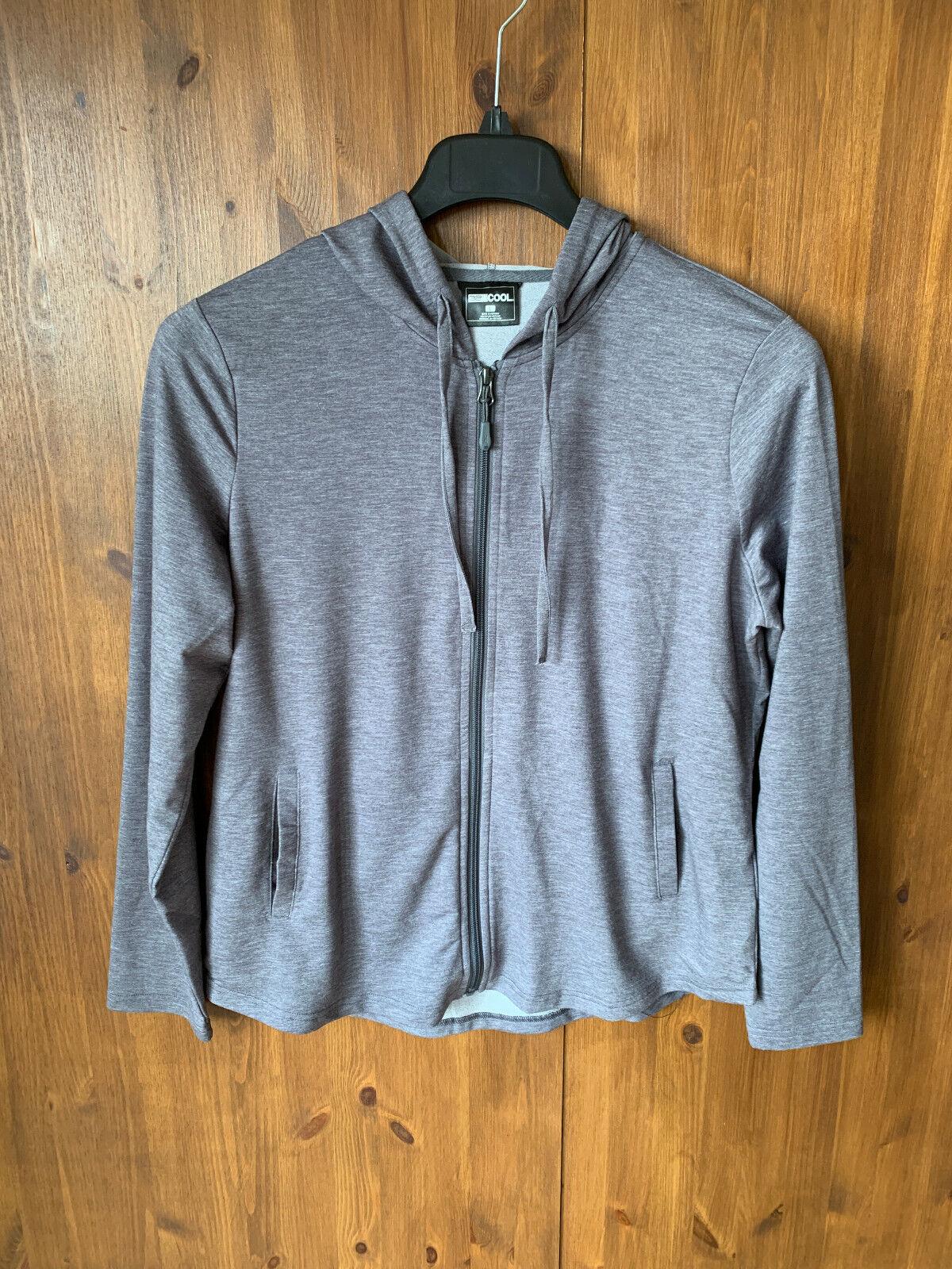 32 DEGREES COOL HOODIE Mens Grey Full Zip Jumper Lightweight LARGE - NEW