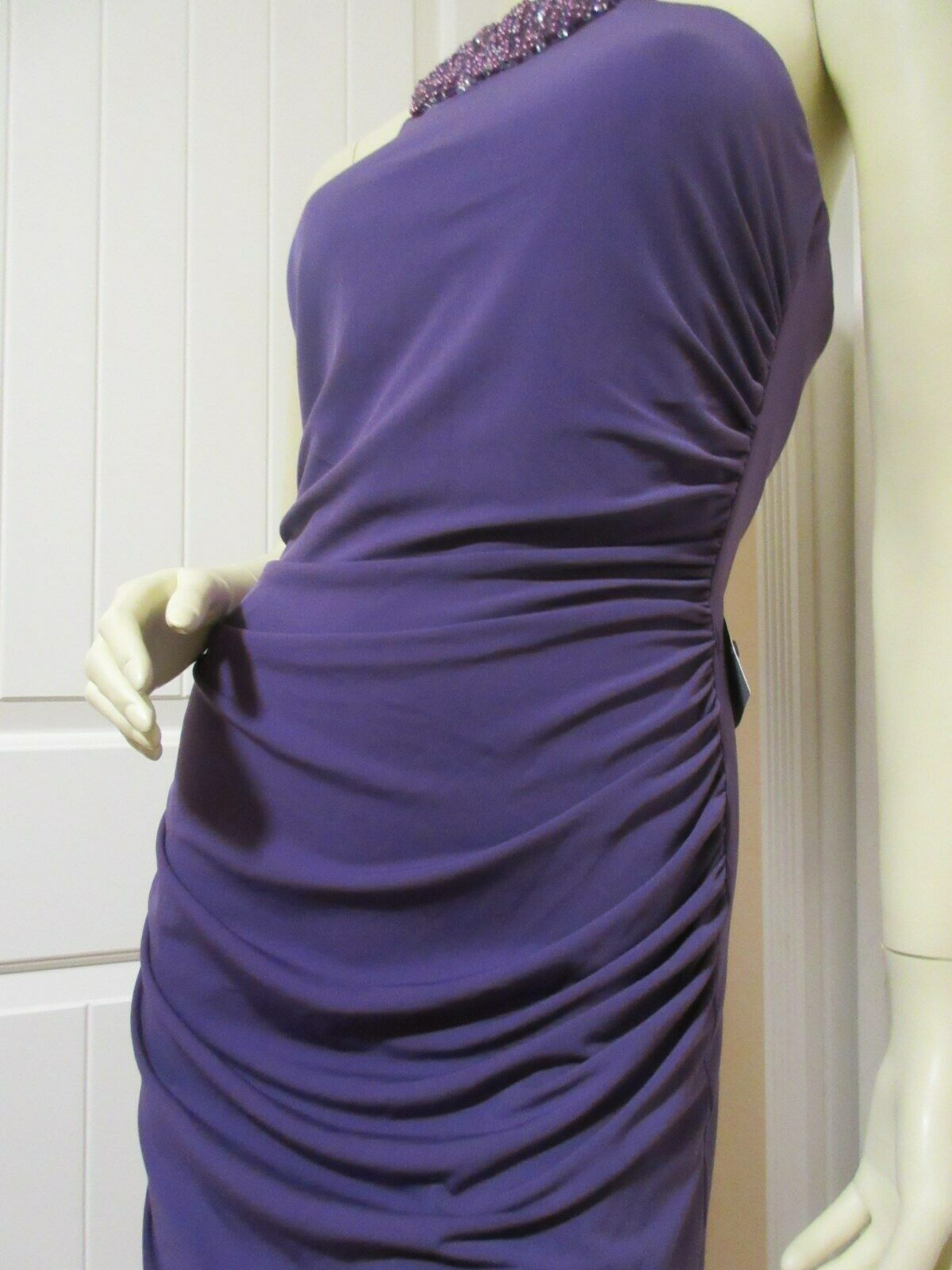 JS BOUTIQUE NORDSTROM NWT Womens Sleeveless Sheath Bodycon Dress Dress Dress 8 Beads Purple bc183c