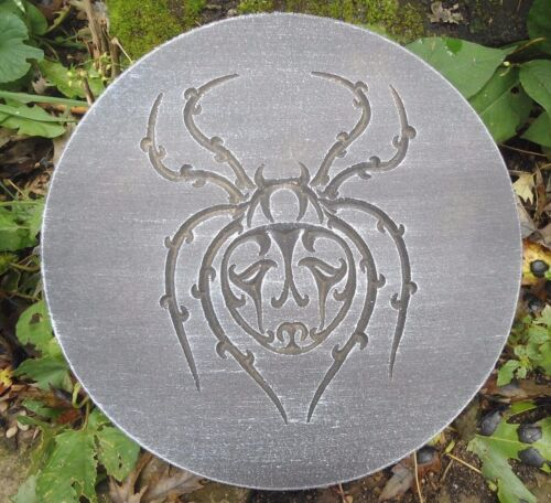 """spider plaque mold 10/"""" x .75/"""" thick plastic mold for plaster concrete casting"""