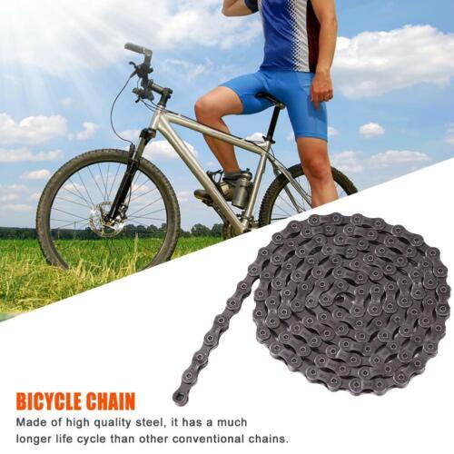 9//27 Speed Mountain Bike Chain HG73 Links Freewheel Shifting for MTB Bicycle #k
