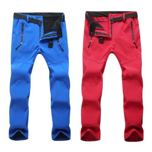 Outdoor Randonnée Pantalon épais Polaire Doublé Pantalon Imperméable Softshell Pantalon