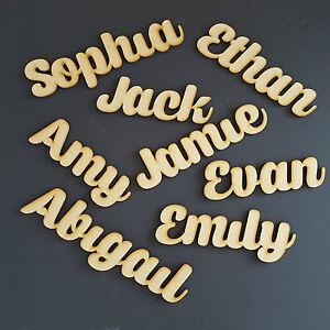 Impartial En Bois Magnétique Script Noms Lettres Mots Personnalisé Mariage Réfrigérateur Art Bois-afficher Le Titre D'origine Style à La Mode;