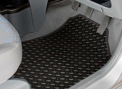 BMW 7 SERIES (G11) (2015-ON) TAILORED RUBBER CAR MATS WITH BLACK TRIM [3659]BMW