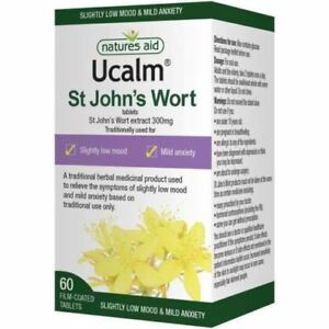 Natures-Aid-UCALM-300mg-60-Tablets-St-John-039-s-Wort-for-Low-Mood-amp-Mild-Anxiety