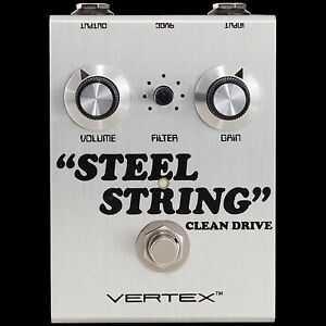 Details about NEW VERTEX EFFECTS STEEL STRING CLEAN DRIVE GUITAR EFFECTS  PEDAL
