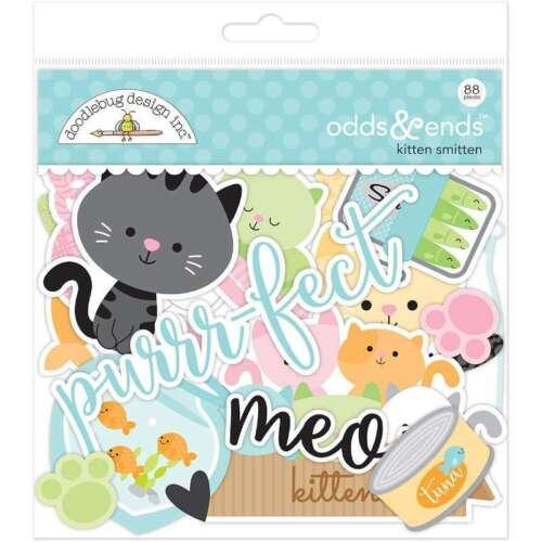 Doodlebug Odds /& Ends Die-Cuts 88//Pkg Kitten Smitten 842715052444