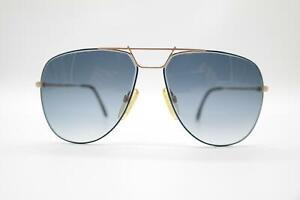 Vintage-Rodenstock-888-GM-Gold-Blue-Oval-Sunglasses-Glasses-NOS