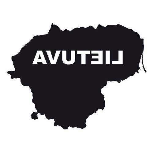 """Noir forme de la Lituanie pare-chocs Autocollant Sticker souvenir avec écriture /""""Lietuva/"""""""