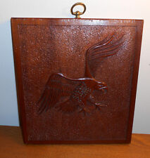 Handmade Wood American Bald Eagle Wood Frame Wildlife Bird Wall Decor