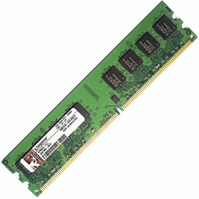 Memoria Ram De 240 Pins Pc Escritorio 1gb(1x1gb) Ddr2-667 Pc2-5300 Dimm No Ecc