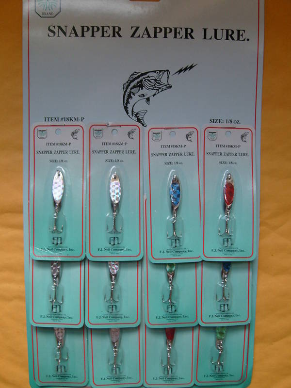 LURES HOLOGRAPHIC SPOON BRAND NAME STYLE 1 8 OZ 12 PCS FREE USA SHIPPING