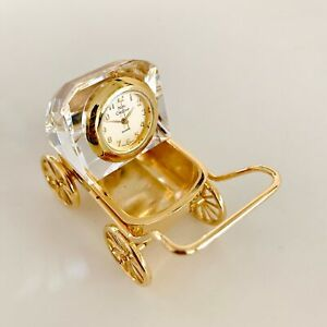 Miniature-Crystal-Baby-Strollers-Clock-Hand-Crafted-Vintage-Shelf-Decoration