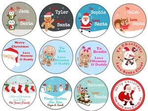 Penguin Christmas Personalised Gift Tags Present Stickers Labels wrapping xmas