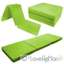 Childrens Kids Folding Guest Z Bed Cube Sleepover Sleeping Mattress Futon Uk