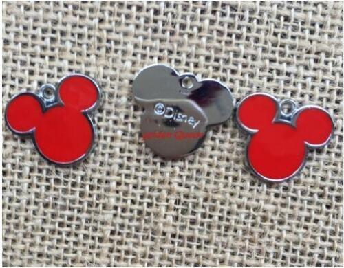20pcs Cartoon Mickey METAL Charm Pendentif À faire soi-même Collier Jewelry Making