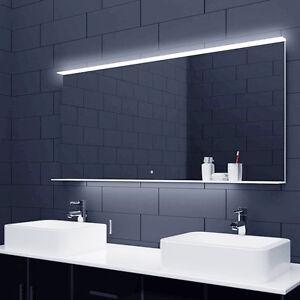 Details zu LED Beleuchtung Badezimmerspiegel Bad Spiegel Badmöbel  Glasablage 60-140cm ALM