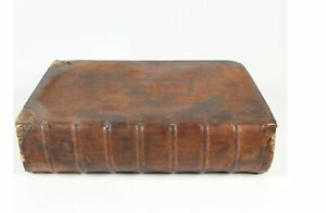 """1680 Leather Bound """"The Holy Bible"""" the Old & New Testaments 17.7""""x 11.5""""x 4.25"""""""