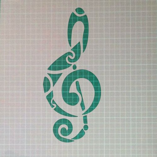 Music Note Musical Sound Mylar Airbrush Painting Wall Art Crafts Stencil 2