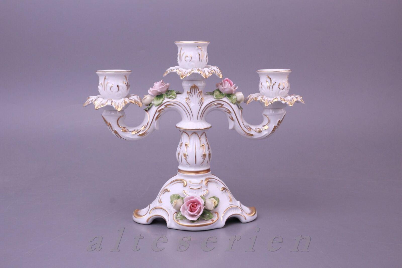 CANDELE in H 20 cm 3 BRACCI rosanapplikati... Imperatore ornamenti portacandele