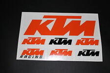 KTM Aufkleber Sticker Decal Bapperl Kleber Autocollant Racing Motocross EXC Set2