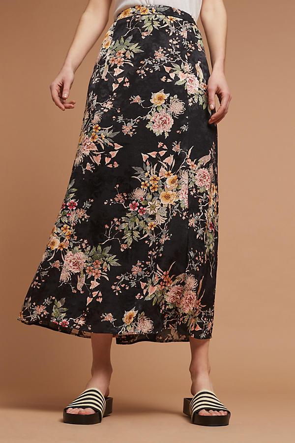 Anthropologie Blooming Flora Midi Skirt by Vanessa Virginia Size 4