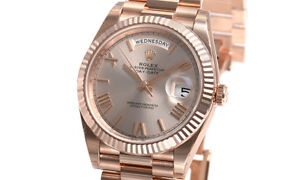 Rolex-Day-Date-228235-President-40mm-18k-Everose-Gold-Sundust-Roman-Dial-Watch