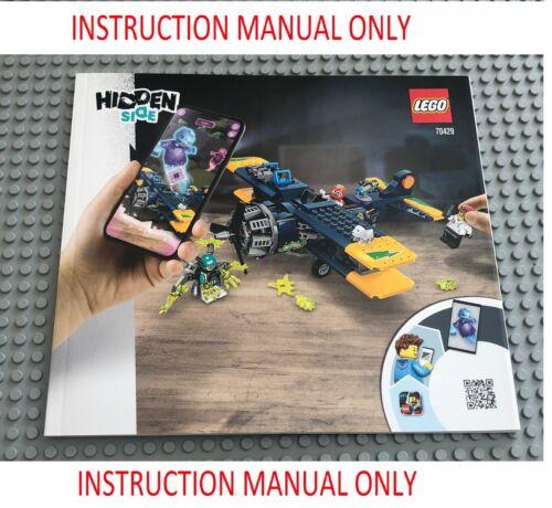 LEGO MANUALE DI ISTRUZIONI per set 70429 laterale nascosta El Fuego/'S STUNT Plane NUOVO